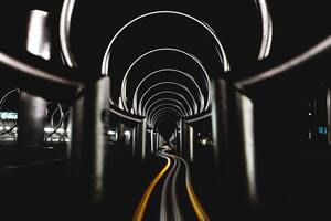 Long Exposure Circles Tunnel 5k Wallpaper