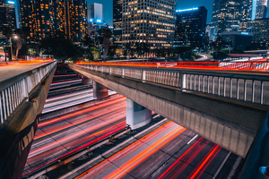 Long Exposure City Road 4k Wallpaper