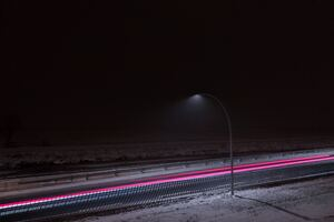 Long Exposure Light Highway
