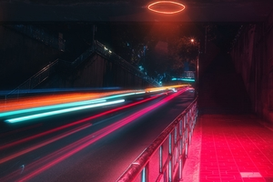 Long Exposure Lights Road 5k Wallpaper