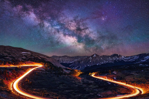 Long Exposure Road Path 4k Wallpaper