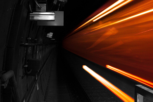Long Exposure Tunnel Train 4k