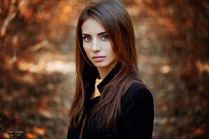Long Hair Girl Blue Eyes