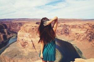 Long Hair Girl Auburn Hair Canyon