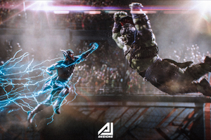 Lord Of Thunder VS The Strongest Avenger Wallpaper