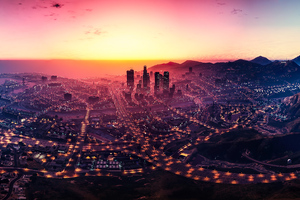 Los Santos Gta V City View