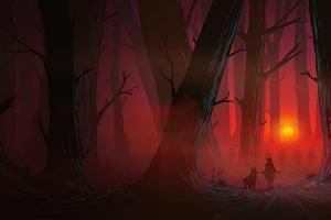 Lost In Woods 5k Wallpaper