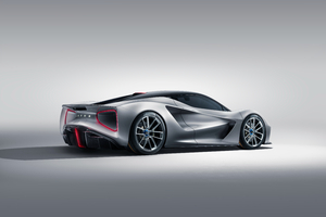 Lotus Evija 2019 Rear View Wallpaper