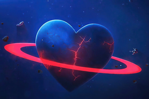 Love Broken Planet Wallpaper