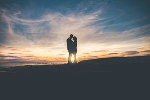 Love Couple Sunset