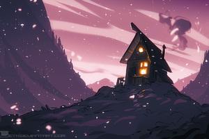 Lovely House Wallpaper