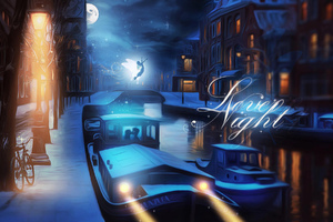 Lovely Night Digital Art Wallpaper