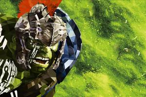 Low Poly Hulk Thor Ragnarok Wallpaper