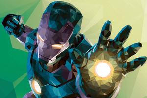 Low Poly Iron Man Graphic Design 4k 2018