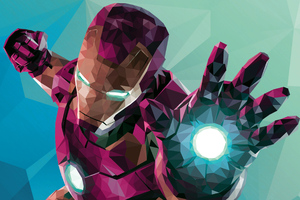 Low Poly Iron Man Graphic Design