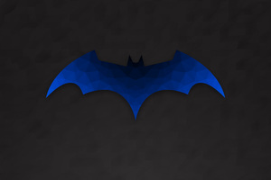 Low Polygon Batman Logo