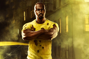Luke Cage In The Defenders Artwork Wallpaper