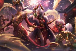 Luna League Of Legends 4k Wallpaper