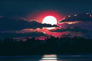 Lunar Night 4k Wallpaper