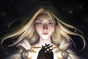 Lux League Of Legends Closed Eyes 4k Wallpaper