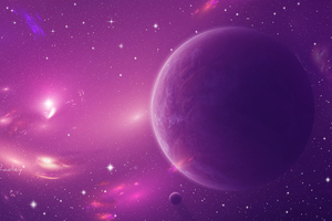 Lynette Space Scenery Scifi Wallpaper