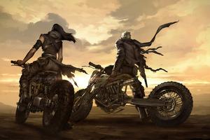 Mad Max Biker Art