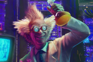 Mad Scientist Wallpaper