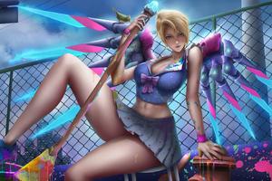 Magic Girl With Wings Wallpaper