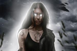 Magical Girl Of Raven 4k Wallpaper