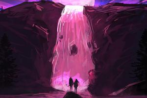 Magical Water Fall 4k Wallpaper