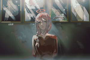 Makima Chainsaw Man Anime Girl Wallpaper