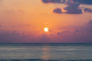 Maldive Islands Sunrise 5k Wallpaper