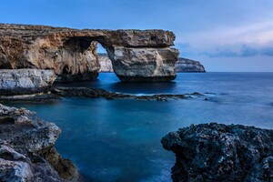 Malta Rock Sea Coast