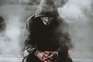 Man Black Hoodie Anonymus 4k Wallpaper