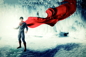 Man Of Steel Cape Flying