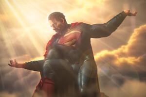 Man Of Steel Superman 3D 4k Wallpaper