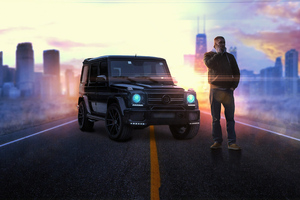 Man With G Wagon Wallpaper