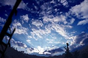 Manga Original Art Clouds Sky Birds 4k