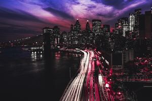 Manhattan City At Night