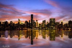 Manhattan Sunset Desktop Wallpaper