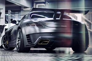 Mansory Mercedes Benz SLS C63 AMG Back View Wallpaper