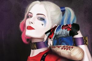 Margot Robbie Harley Wallpaper