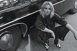 Margot Robbie Monochrome 2017 4k