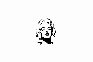 Marilyn Monroe Monochrome Minimal 4k Wallpaper