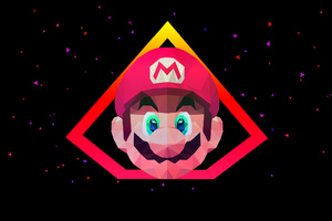 Mario Low Poly Art