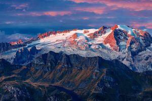 Marmolada Glacier In Italy 8k Wallpaper