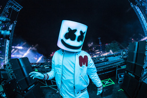 Marshmello 2018 On Stage Live Dj 5k Wallpaper