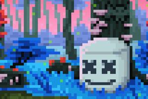 Marshmello 8 Bit Wallpaper