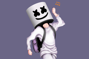 Marshmello Alone Art Wallpaper