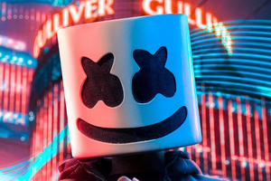 Marshmello Alone In City 4k